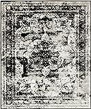 Unique Loom Sofia Collection Black 8 x 10 Area Rug (8' x 10')