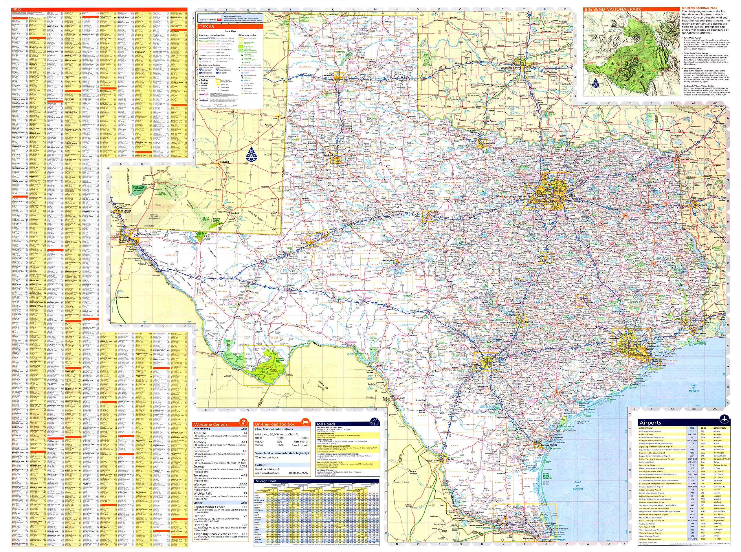 X Texas State Official Executive Laminated Wall Map TX Dept - Map of texas roads