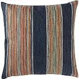 """Rivet Bohemian Stripe Decorative Pillow, 17"""" x 17"""", Ink"""