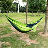 "PPOGOO Camping Hammock Lightweight 110""x 55"" Nylon Portable Hammock for Backpacking Camping Travel and Yard"