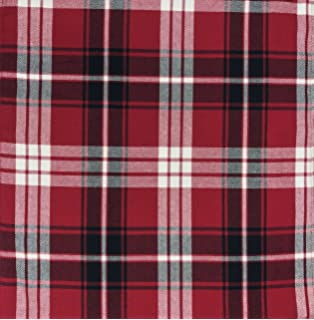 Lauren Ralph Lauren Red Black White Classic Plaid Pattern Nicolas Tartan,  Black (60x104 Oblong