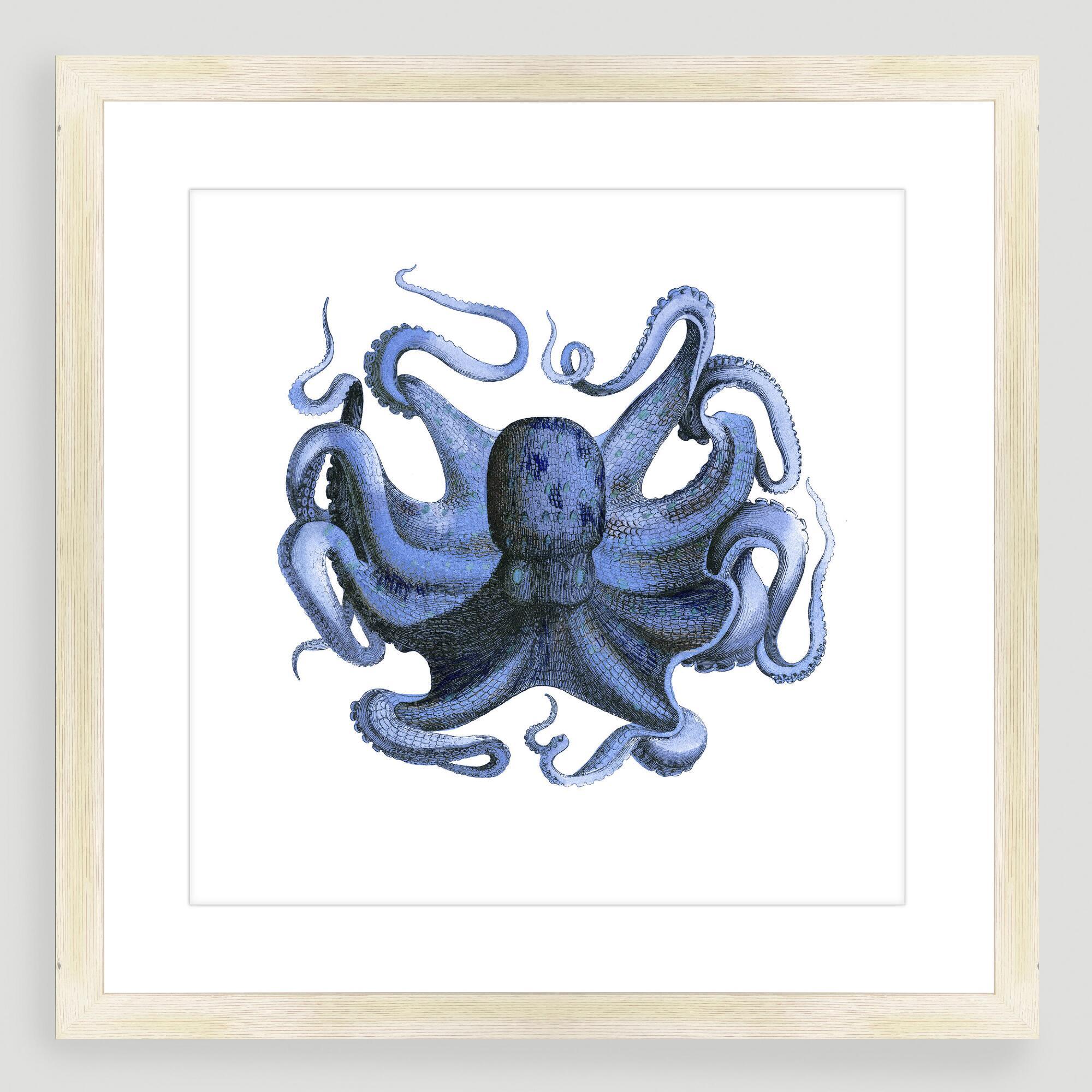 Vintage-Style Octopus Sea Life Wall Art | World Market