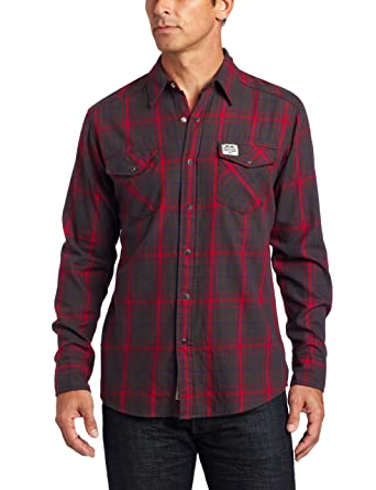 e6219343904 Amazon.com  Carhartt Men s Long Sleeve Snap Front Flannel Shirt  Button  Down Shirts  Clothing