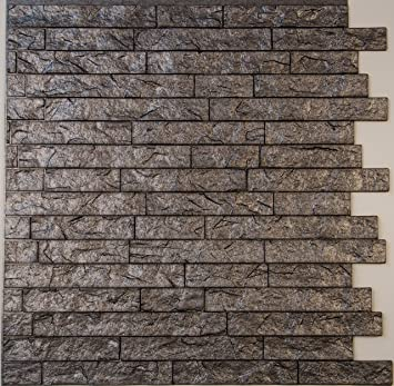Amazon.com: Ledge Stone 3D Wall Panels - lightweight thermoplastic ...