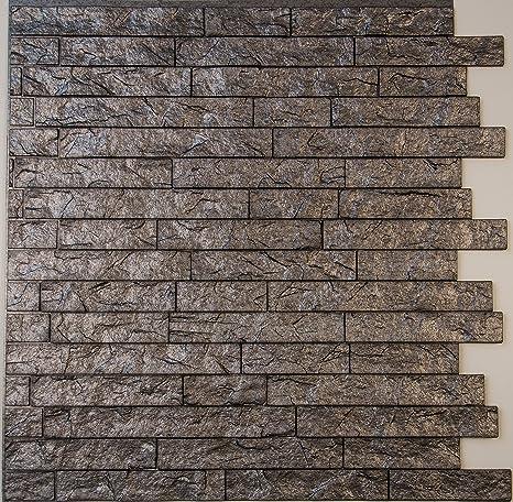 Ledge Stone 3d Wall Panels Lightweight Thermoplastic Decorative 3d