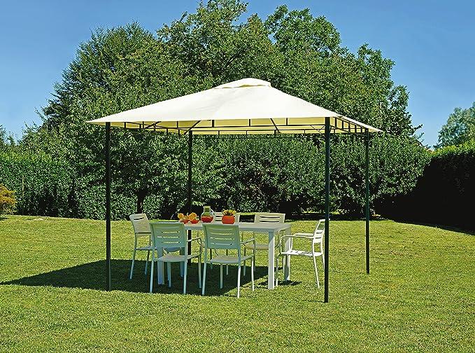 Greenwood Muebles Jardín gaz362 Carpa Hierro Carpa Cuadrado 3 x 3 ...