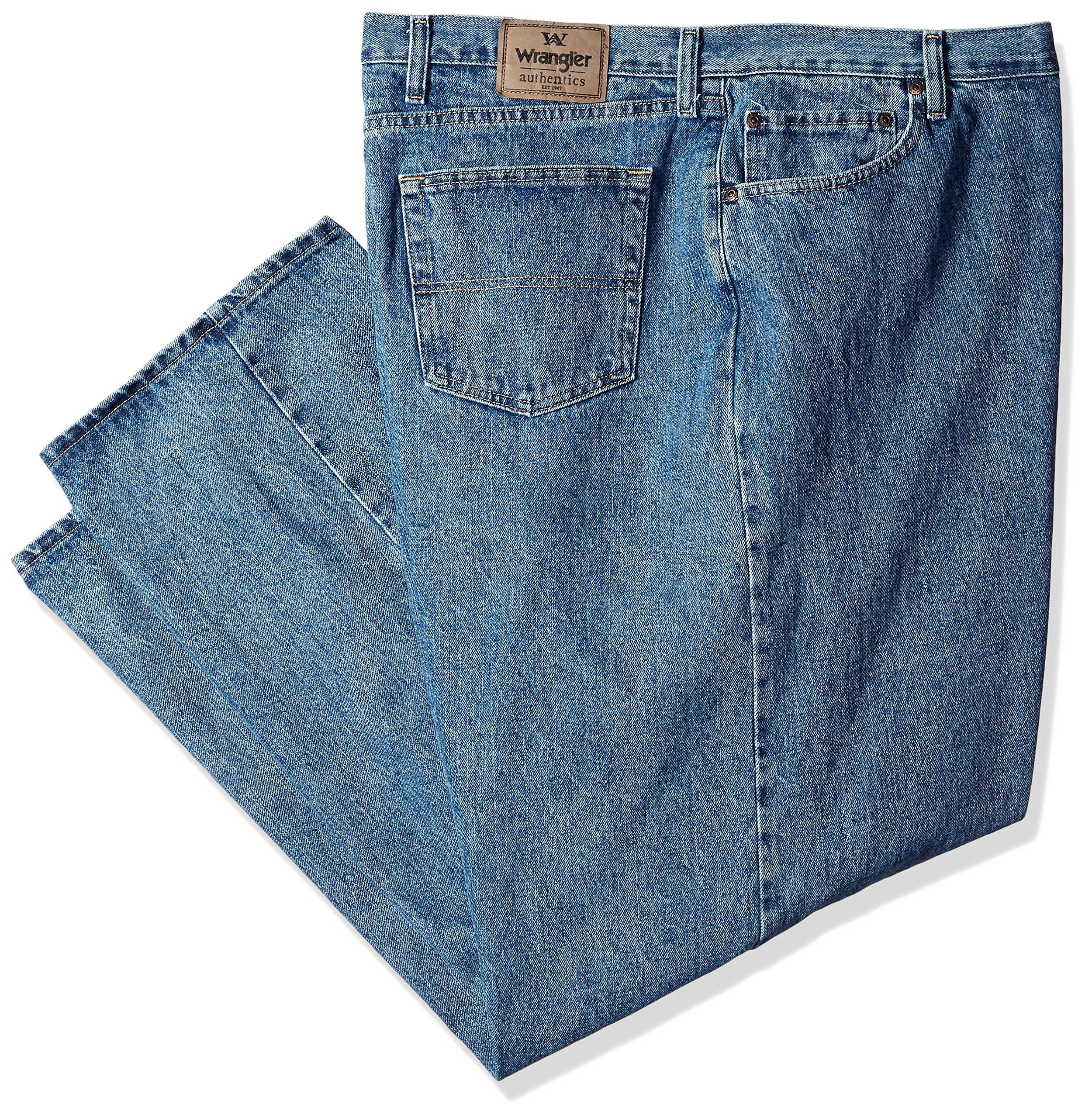 Wrangler Authentics Men's Classic Relaxed Fit Jean, Vintage Stonewash, 33x32