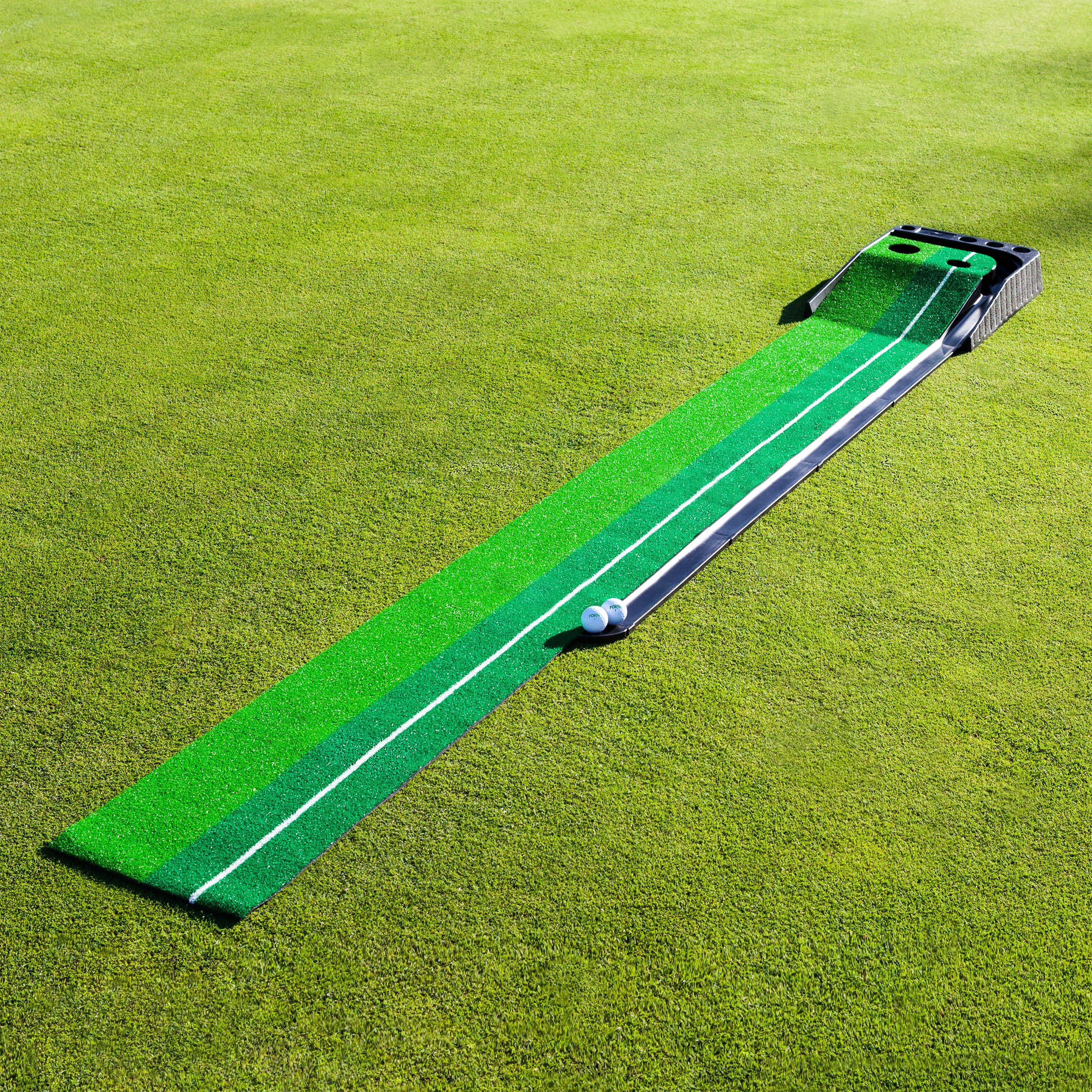 FORB Dual-Speed Golf Putting Mat (10ft x 1ft) - Perfect Your Putting On The Go With This Easy To Manoeuvre Mat [Net World Sport] by FORB (Image #2)