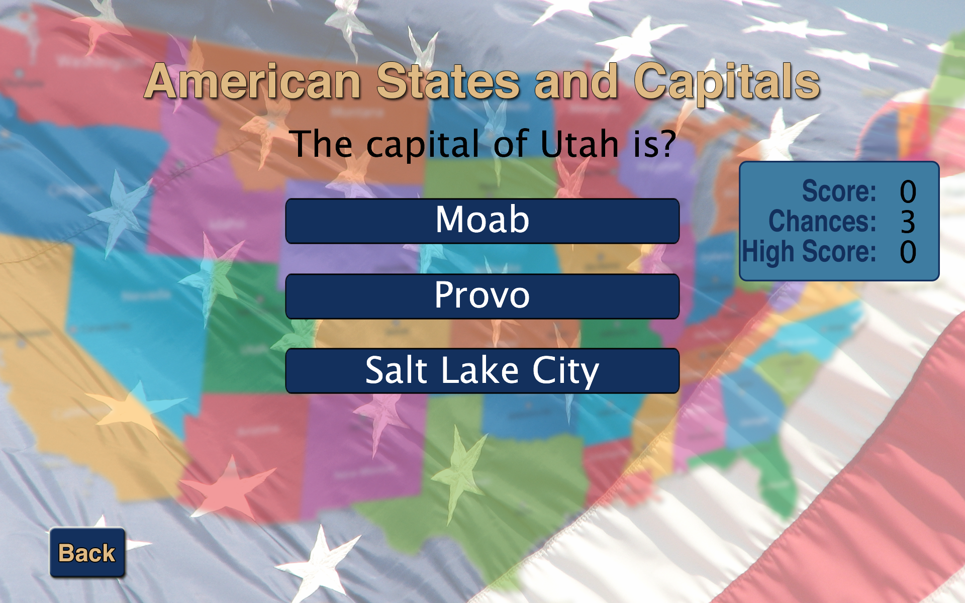 Amazoncom American States And Capitals Appstore For Android - Us states and capitals list map