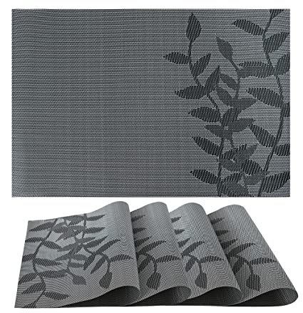 Amazon Placemats Set of 4 Vinyl PVC Placemat Table Mats