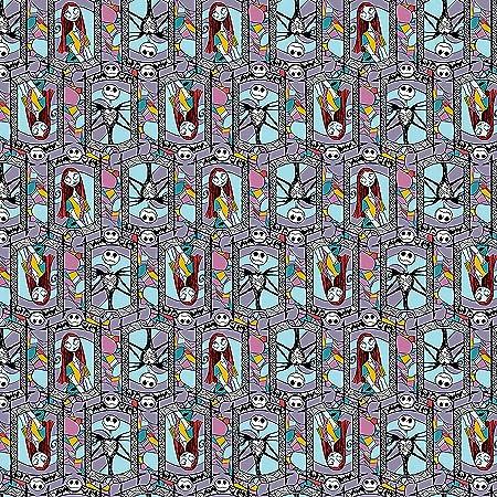 Disney\u2019s Nightmare Before Christmas Jack Skellington Loves Sally Cotton Fabric 14 Yard