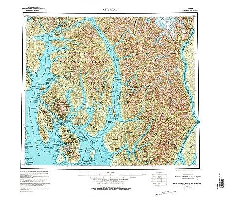 Amazon.com : Ketchikan AK topo map, 1:250000 scale, 1 X 2 Degree ...