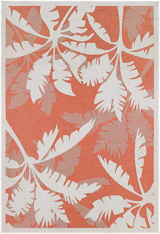 Couristan Monaco Coastal Floral Runner Rug, 2\'3\' x 7\'10\', Ivory/Orange