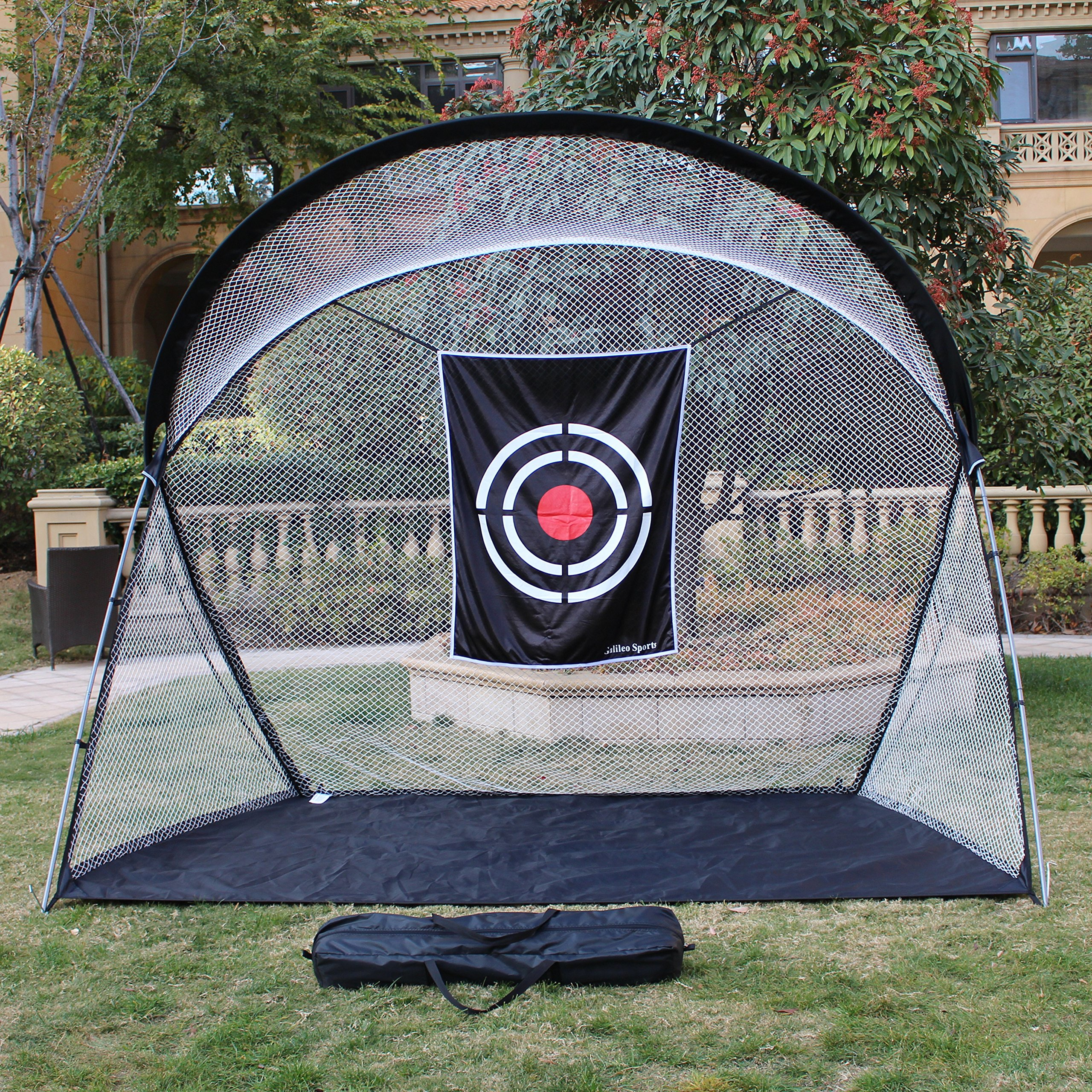 Galileo Sports Golf Practice Net Training Net High Strength Steel Frame with large target Backyard practice Carry Bag Practice Driving Indoor and Outdoor Large Golf target 10.5'(L) x5.5'(W) x8.6'(H)