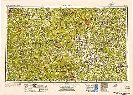 Amazon.com : YellowMaps Raleigh NC topo map, 1:250000 Scale, 1 X 2 ...