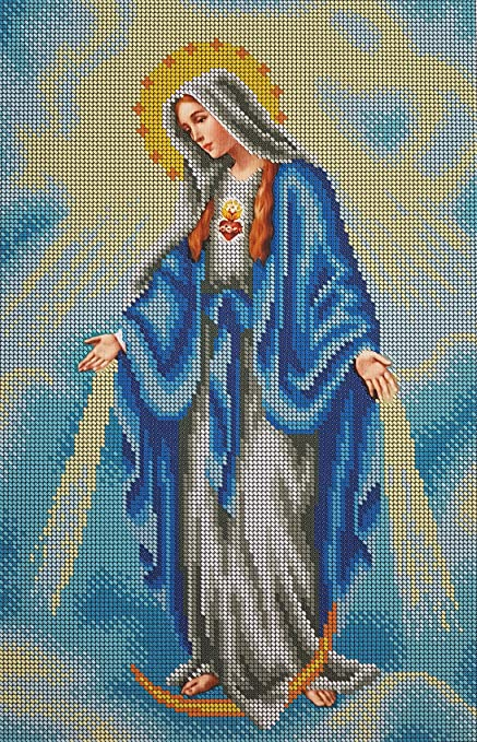 Amazoncom Bead Embroidery Kit Immaculate Conception Needlepoint