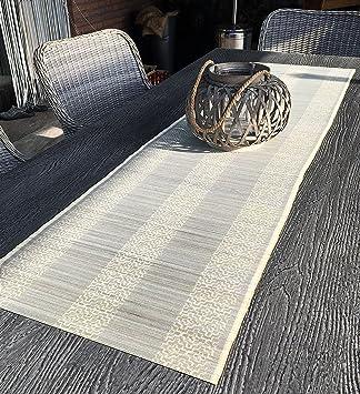 Bambus Tischlaufer Bambusmatte Asia Beige 180 X 48cm Mit Print
