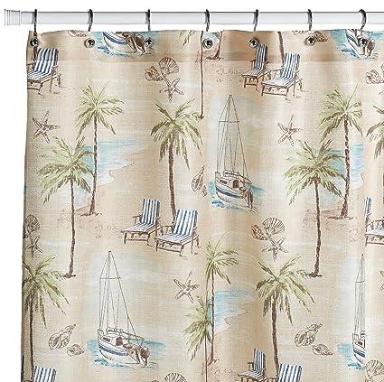 amazon com croscill south sea breeze shower curtain home \u0026 kitchen
