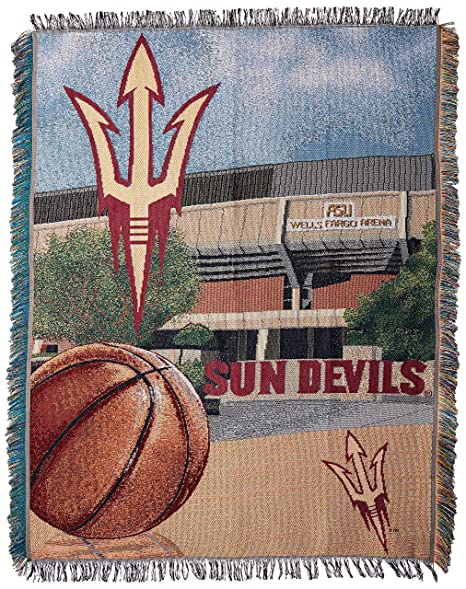 buy online aae0b 85c47 The Northwest Company Officially Licensed NCAA Arizona State Sun Devils Home  Field Advantage Woven Tapestry Throw