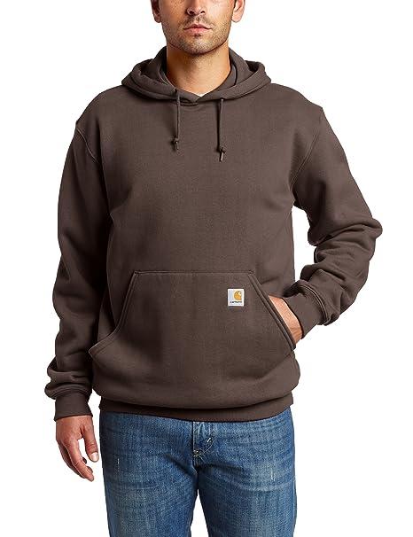 f54b9df018 Carhartt Mens Midweight Original Fit Hooded Pullover Sweatshirt K121 ...