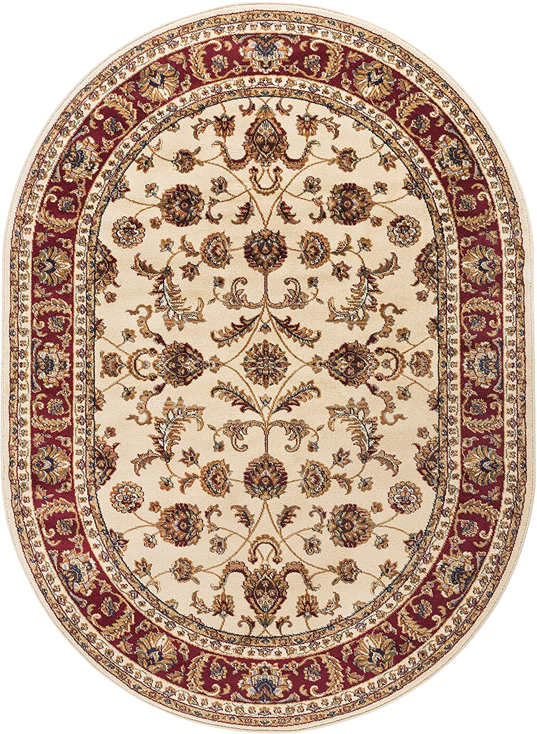 Universal Rugs 4792 Sensation Transitional Area Rug, 2 by 3-Feet, Beige SNS4792 2x3