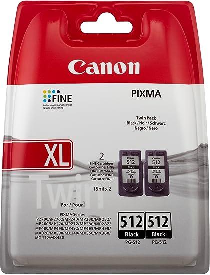 Canon PG-512 2PK - Cartucho de tinta (2 unidades), negro: Amazon ...