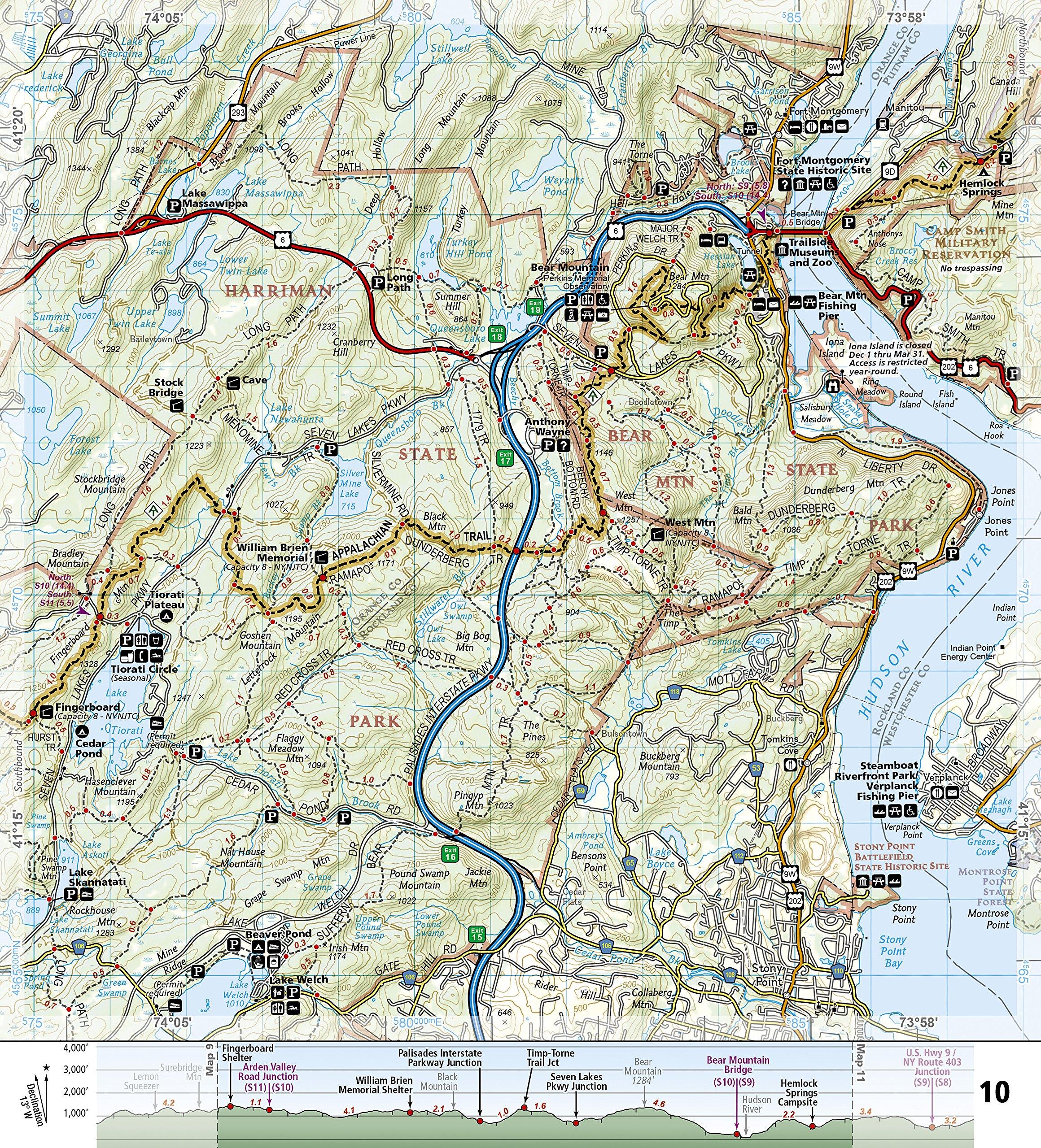 Appalachian Trail, Delaware Water Gap to Schaghticoke Mountain new on