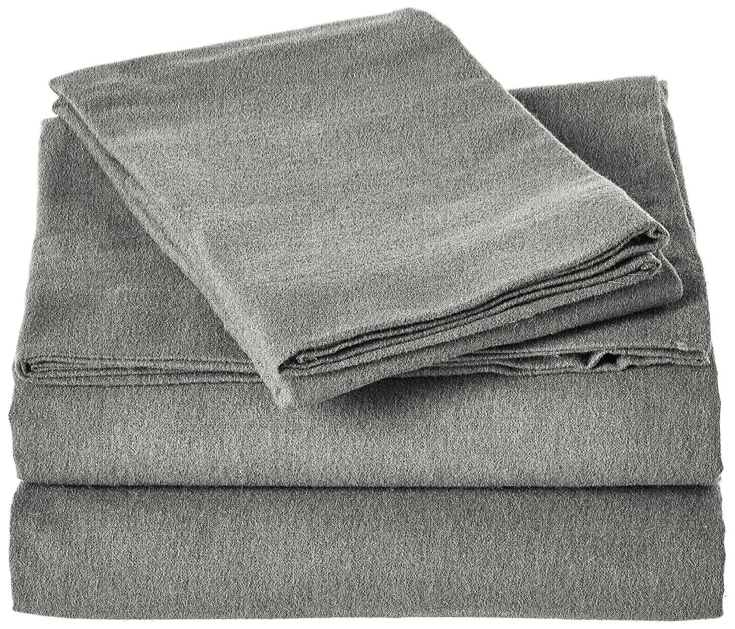 Eddie Bauer Flannel Sheet Set, Twin, Chrome