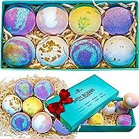 Bath Bombs Gift Set - 8 Luxury Vegan Bubble Fizzies For Women, Bath Bomb Kit - Relaxing...