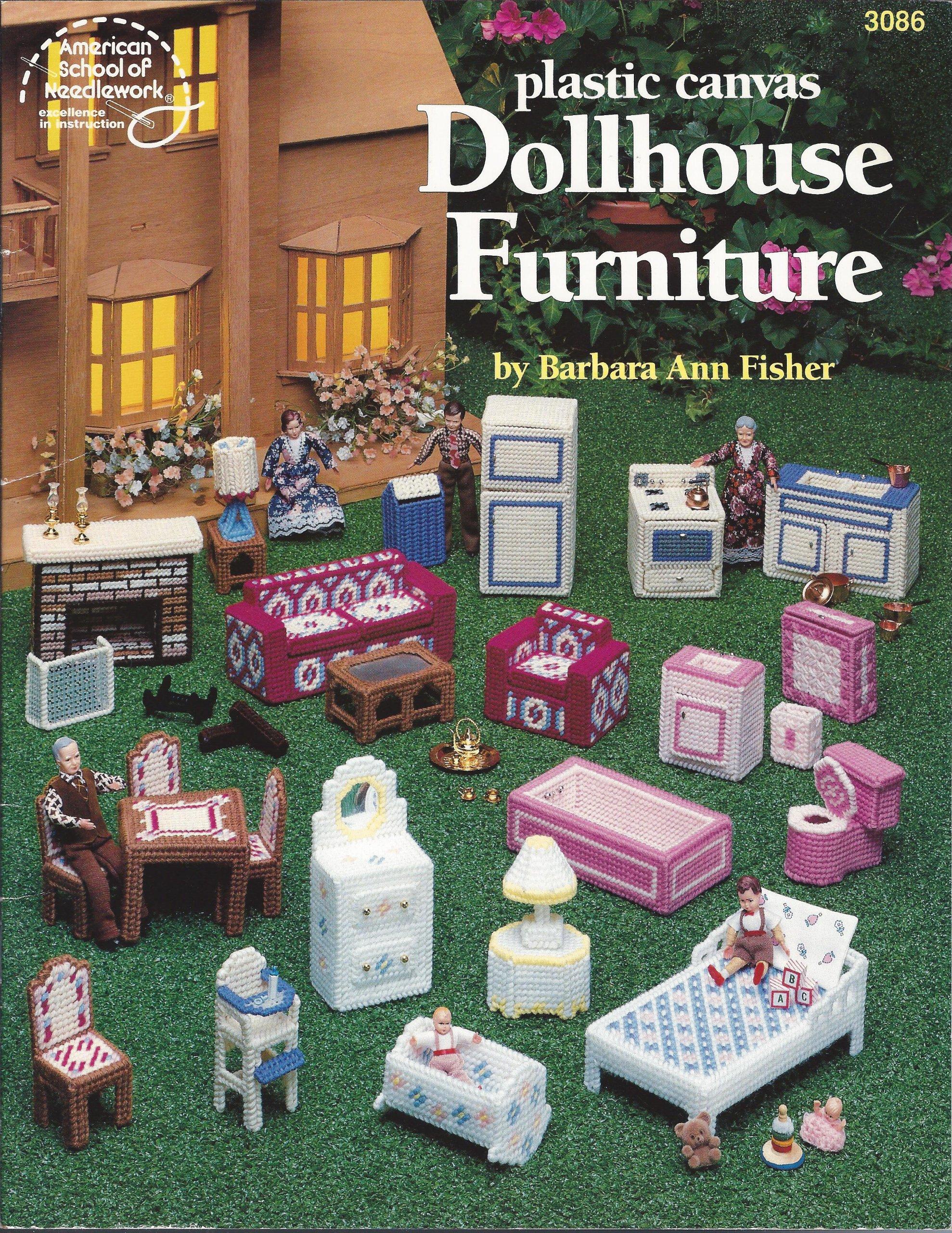 Dollhouse Furniture - Plastic Canvas Craft Book - #3086