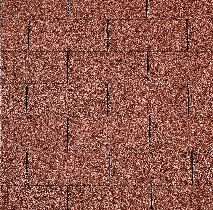 Bitumenschindeln Dachschindeln Rechteck Schindel Dachpappe Bitumen gr/ün 3 m/²