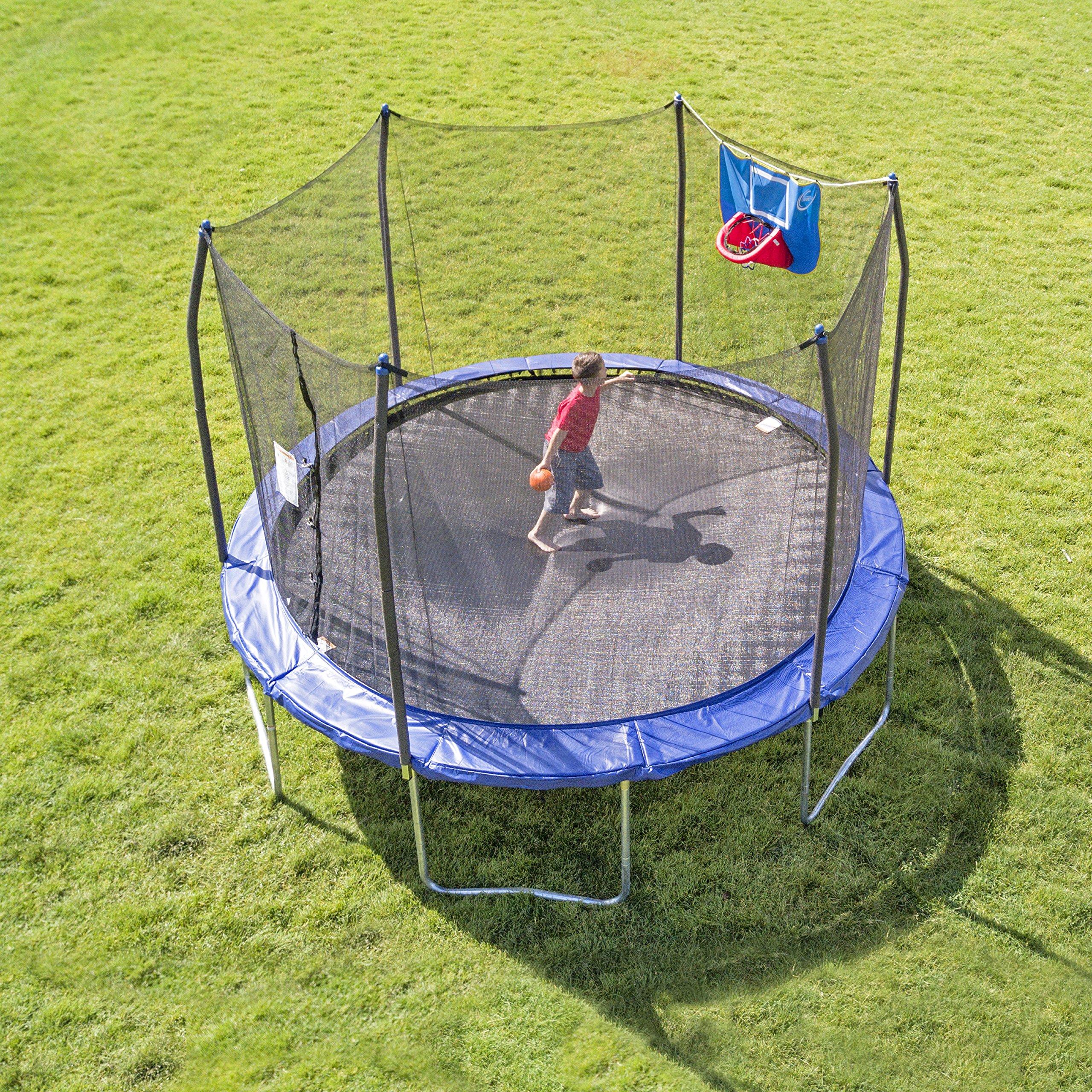 Skywalker Trampolines 12-Foot Jump N' Dunk Trampoline with Enclosure Net - Basketball Trampoline by Skywalker Trampolines (Image #2)