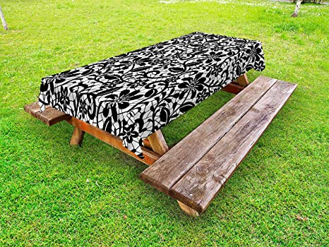 Terrific Amazon Com Lunarable Fractal Outdoor Tablecloth Ceramic Spiritservingveterans Wood Chair Design Ideas Spiritservingveteransorg
