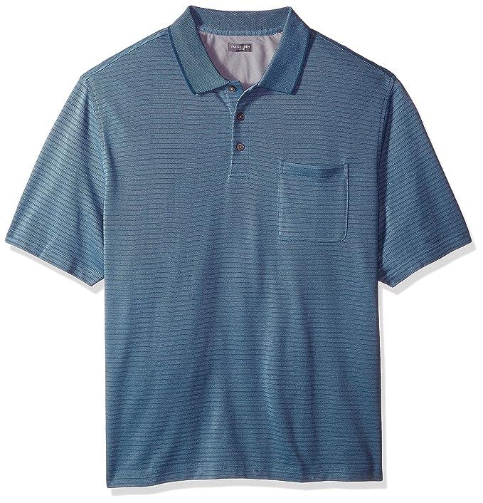4ac1617ed Van Heusen Mens Big and Tall Jacquard Short Sleeve Polo: Amazon.ca ...