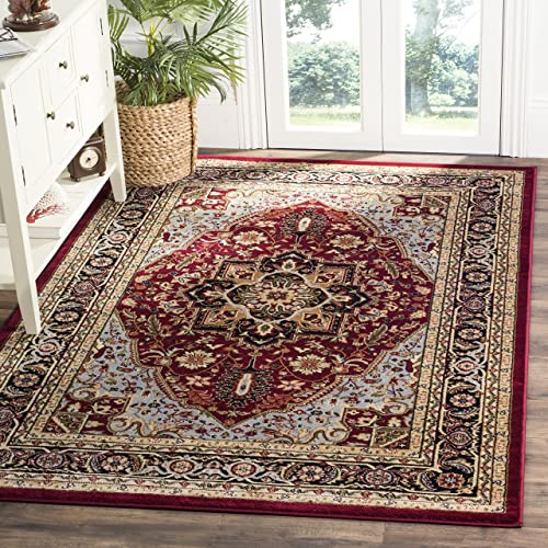 Safavieh Lyndhurst Collection LNH330B Traditional Oriental Medallion Red and Black Area Rug 4 x 6