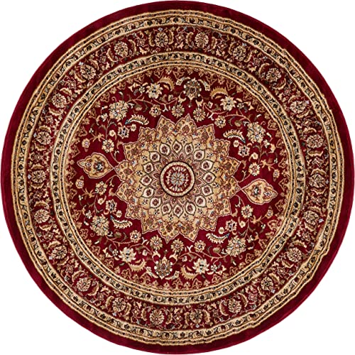 Well Woven Timeless Aviva Traditional French Country Oriental Red Area Rug 5 3 Round
