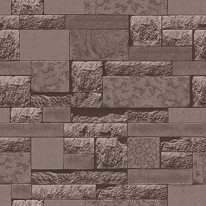 Birwall 2063 Faux Brick Stone Textured Wallpaper Roll 3d Blocks Home Decoration208quot