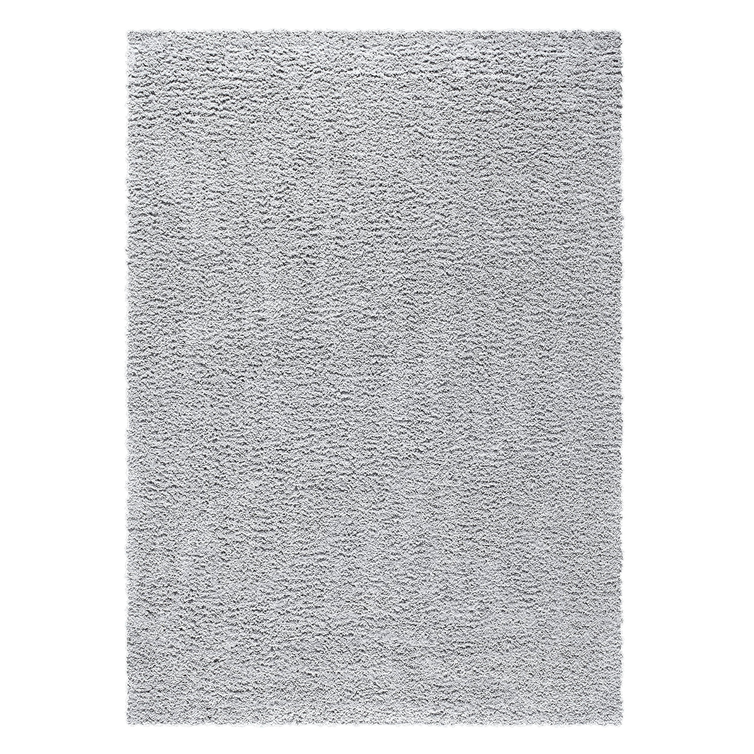 Area Rugs, Maples Rugs [Made in USA][Catriona] 7' x 10' Non Slip Padded Large Rug for Living Room, Bedroom, and Dining Room - Soft Silver