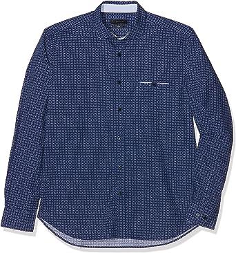 Cortefiel Estampada Camisa, Azul (Marine Blue), XX-Large (Talla del Fabricante: 6) para Hombre: Amazon.es: Ropa y accesorios