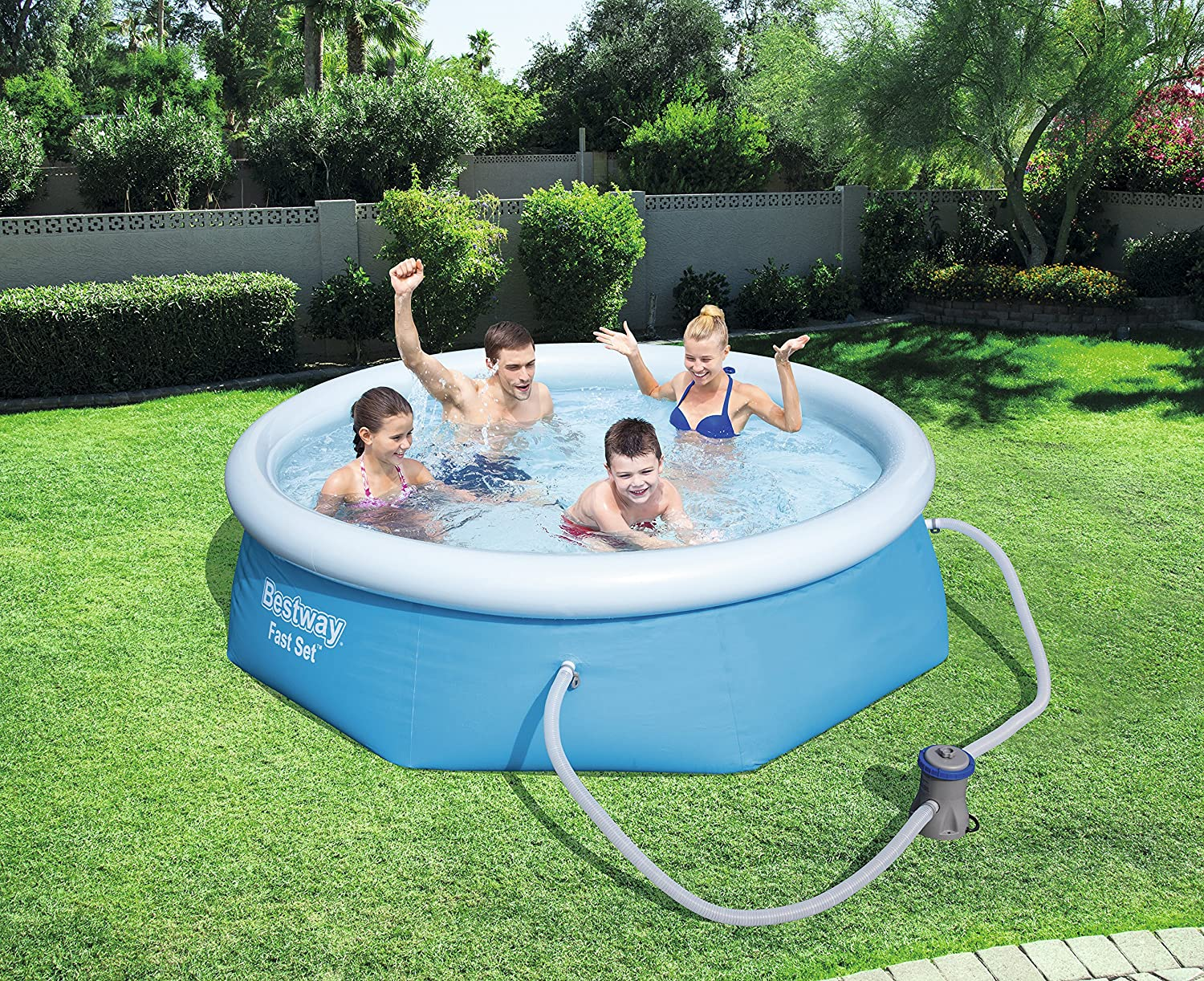 Bestway 57273 - Piscina Desmontable Autoportante Fast Set 366x76 ...