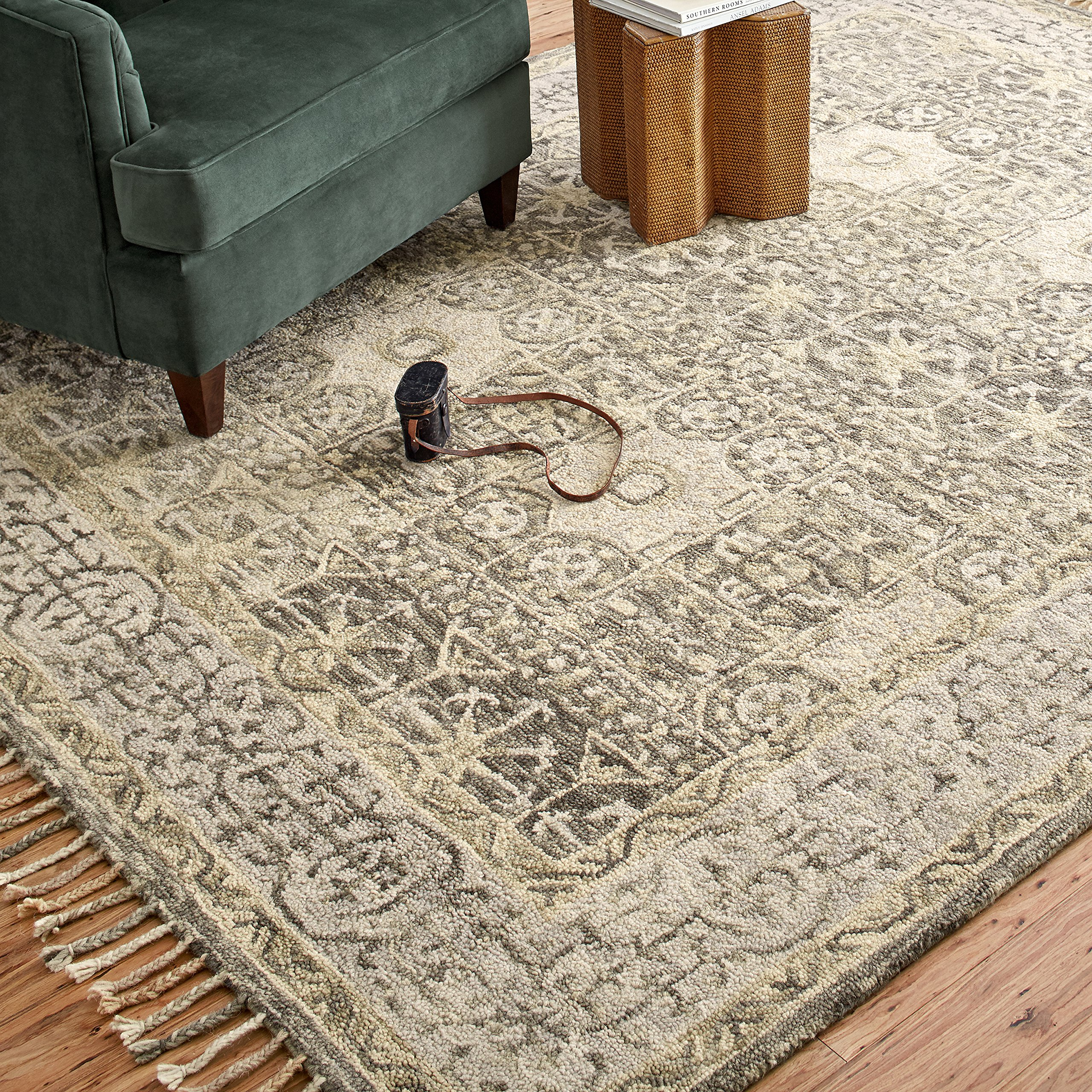 Stone & Beam Kelsea Transitional Wool Area Rug, 8' x 10', Beige and Grey by Stone & Beam (Image #4)