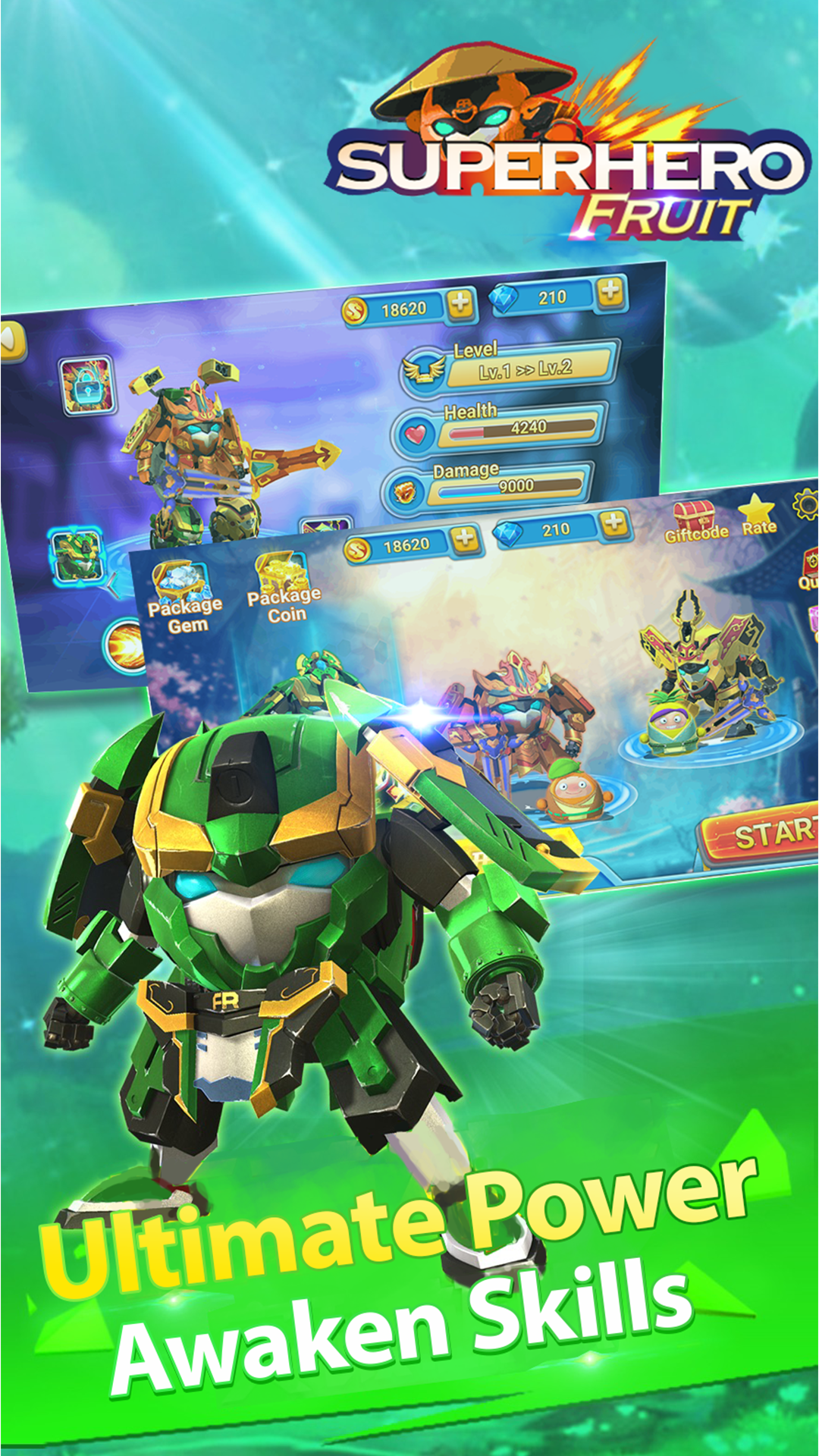 Superhero Fruit: Robot Wars - Future Battles: Amazon.es ...