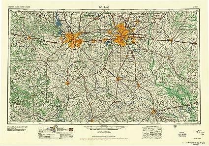 Amazon.com : YellowMaps Dallas TX topo map, 1:250000 Scale, 1 X 2 ...