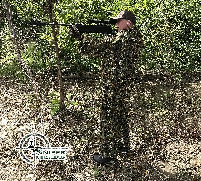 Sniper Outfitters XL trajes de Ghillie 3d hoja traje ...