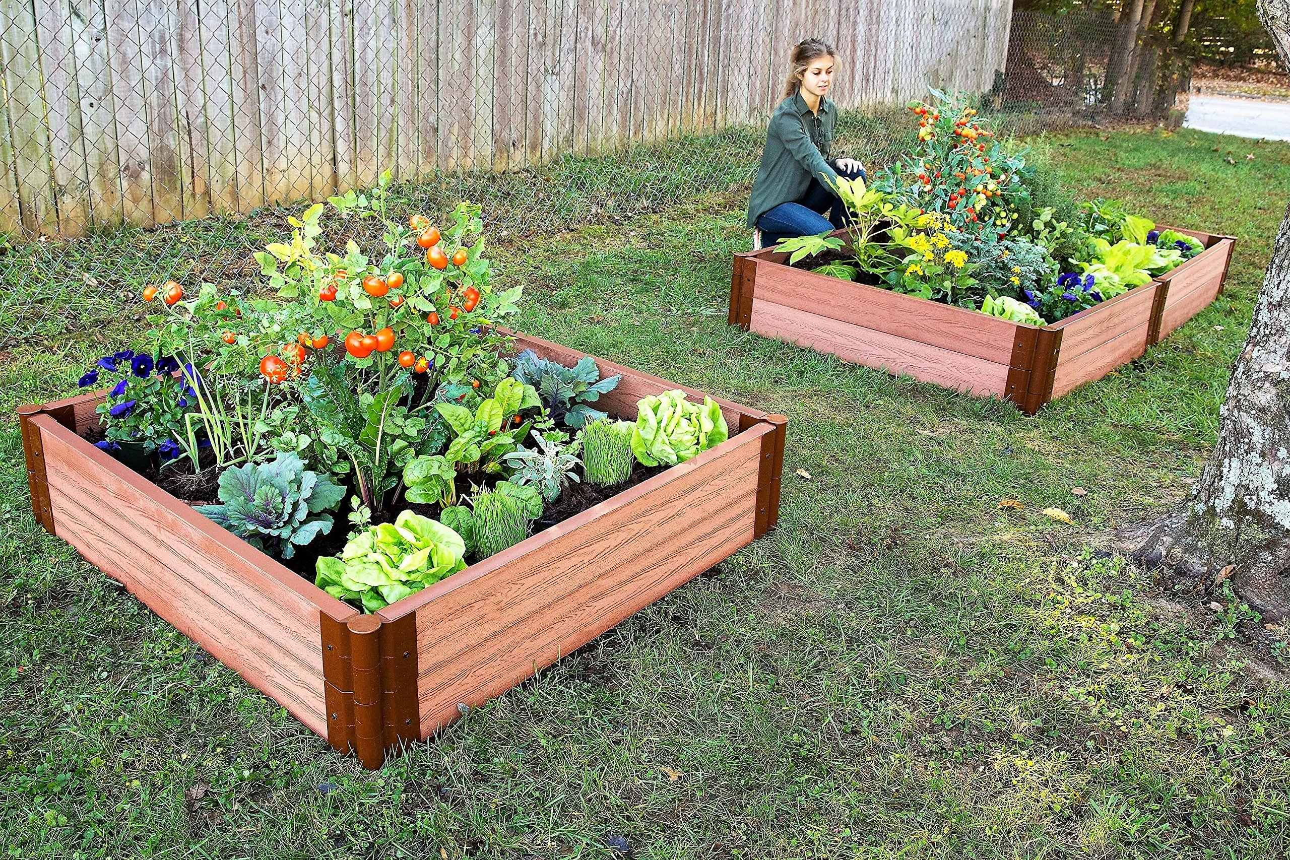 Frame It All Composite Raised Garden Bed Kit, 4' by 4' by 11'' by Frame It All (Image #4)