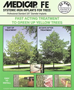 Medicap 25-Pack FE Systemic Iron Tree Implants for Control of Iron Chlorosis, 3/8-Inch