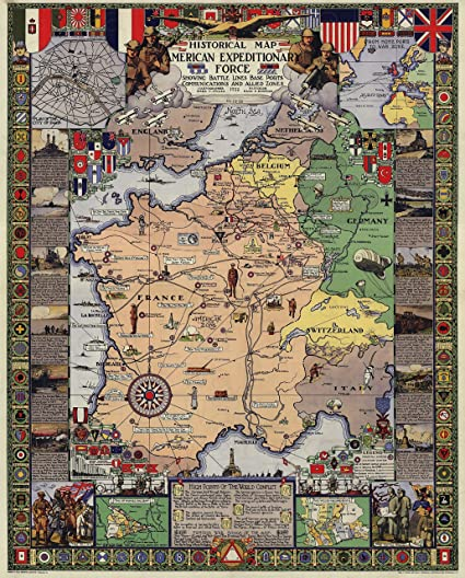Amazon.com: UpCrafts Studio Design Historical Military Map Poster ...