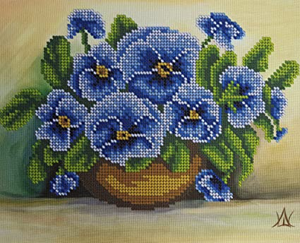 Amazon Forgetmenot Bead Embroidery Kit Floral 3d Needlepoint