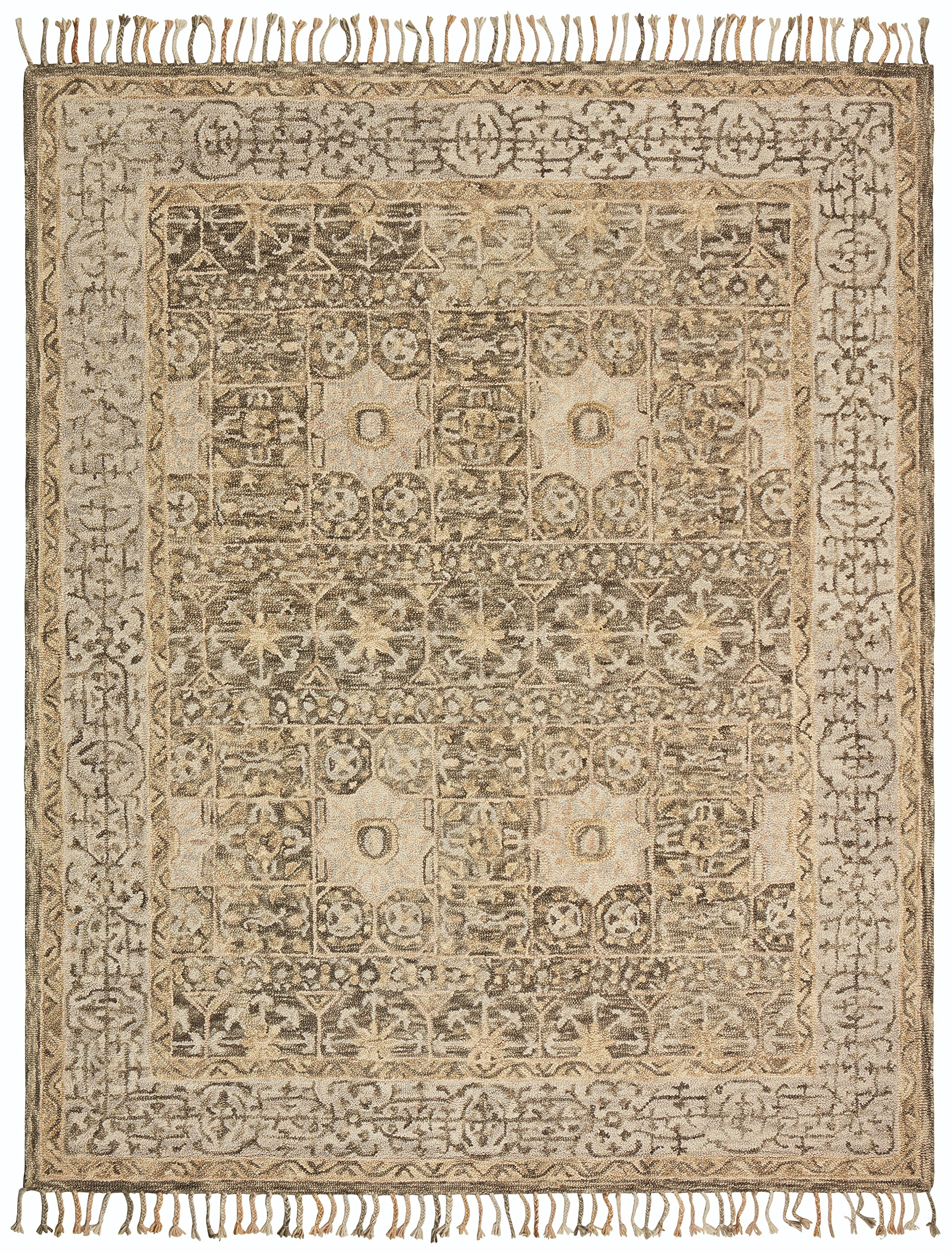 Stone & Beam Kelsea Transitional Wool Area Rug, 8' x 10', Beige and Grey by Stone & Beam (Image #1)