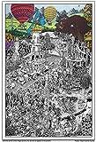 """Wildergorn Posters à Colorier de Jamie Courtier - """"La Route des Potiers"""" - affiche GEANTE à colorier 68cm x 100cm"""